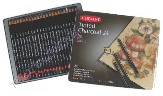 Derwent ágszén színes szénceruzák, 24 szín