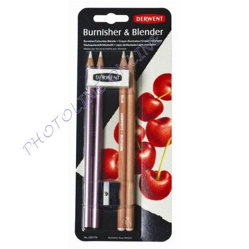 Fény- és összemosó ceruza készlet radírral, hegyezővel, 6db-os Derwent