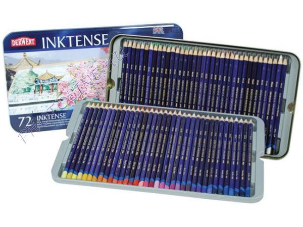 Derwent inktense tintaceruzák, 72 szín, fémdobozos