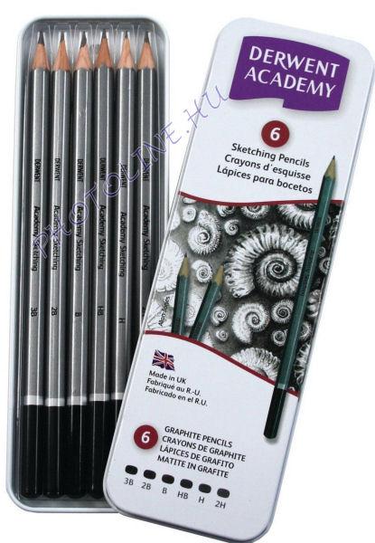 Derwent academy skicc ceruzák, 3B-2H, 6 db
