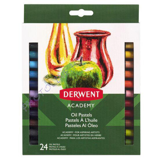 Derwent academy olajpasztell, 24 szín