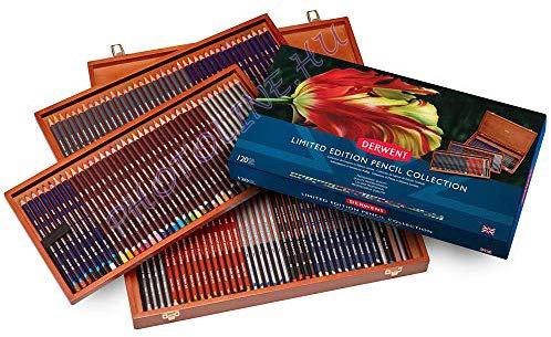 Derwent ceruzakészlet 120 db-os limitált válogatás, fadobozban