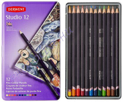 Derwent studio színes ceruza 12 szín