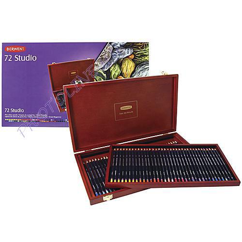 Derwent studio színes ceruza fadoboz 72 szín