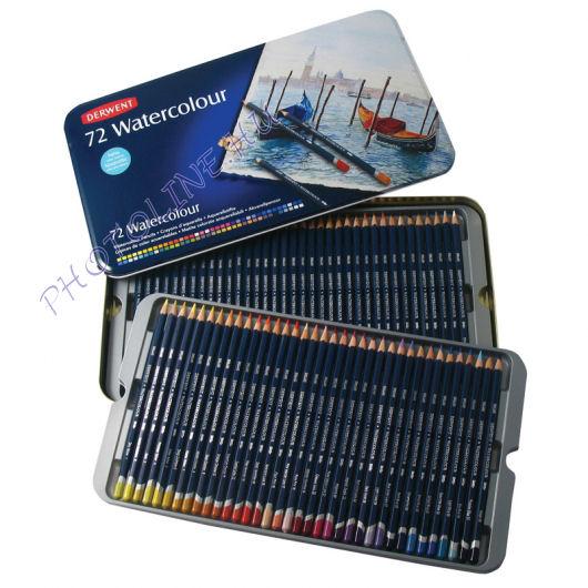 Derwent akvarell ceruzák, 72 szín, fémdoboz