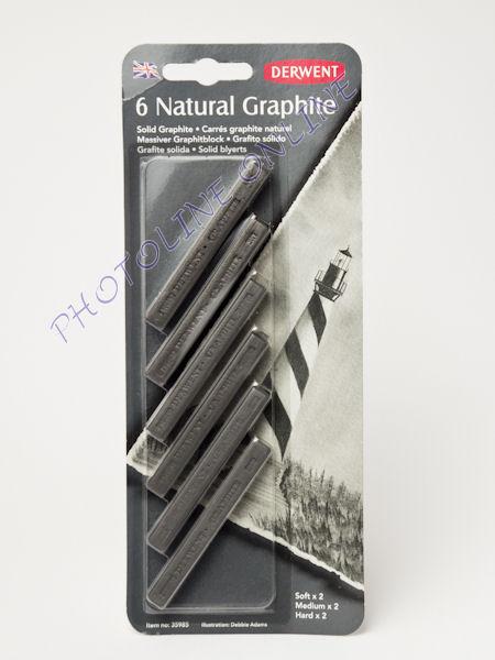 Grafitkréta készlet, 6 db-os szortiment, Derwent
