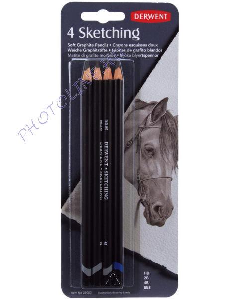 Derwent skicc ceruzák 4 db, HB-2B-4B-8B