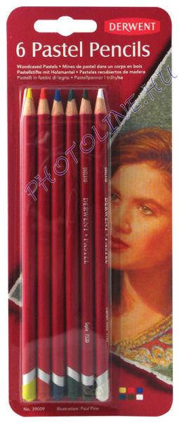 Derwent pasztell ceruzák, 6 szín