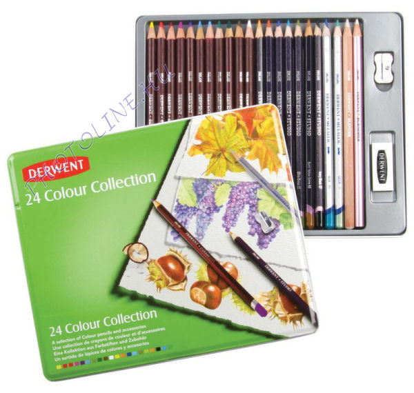 Derwent színes grafikai ceruzák, 24 db