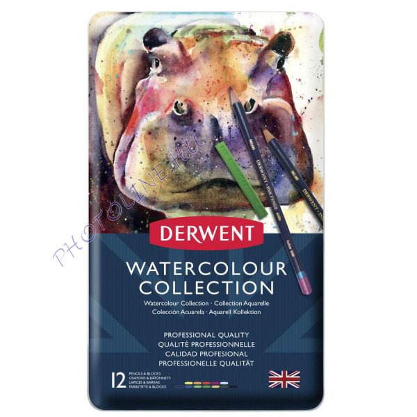 Derwent akvarell gyűjtemény, 12 szín