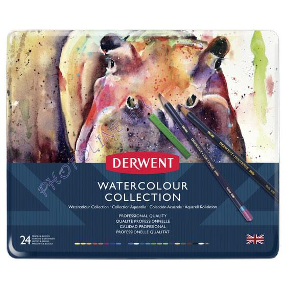 Derwent akvarell gyűjtemény, 24 szín