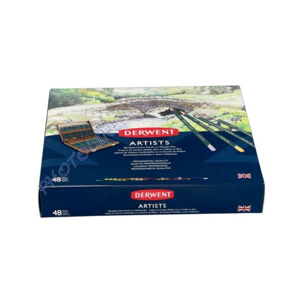 Derwent művész színes ceruza, 48 szín, fadobozos