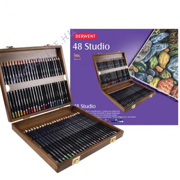 Derwent studio színes ceruza fadoboz 48 szín