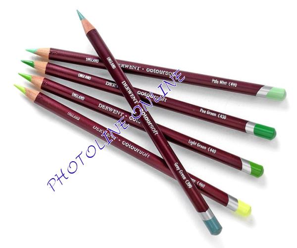 Derwent coloursoft ceruza középzöld C400