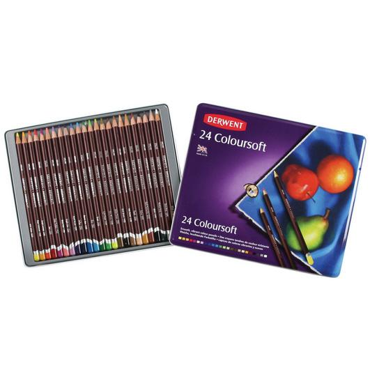 Coloursoft színesceruza-készlet 24 db-os fém tokban, Derwent