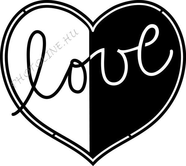 Sablon, Love 15*15 cm