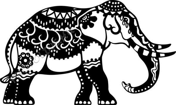 Sablon, indiai elefánt A4