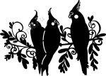 Sablon, ágon ülő papagájok A4