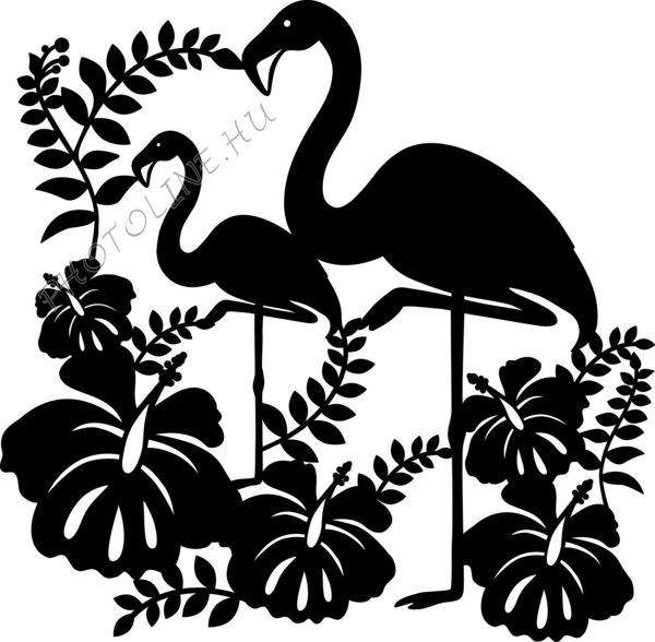 Sablon, flamingók 30*30 cm