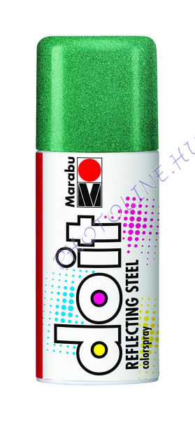 Akrilspray Marabu festék spray 150ml csillámos metál zöld
