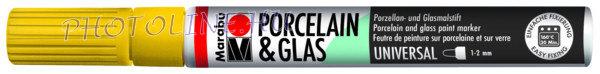 Porcelán & Üveg filctoll NAPSÁRGA 1-2mm