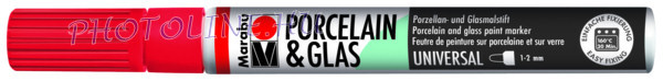 Porcelán & Üveg filctoll CSERESZNYE 1-2mm