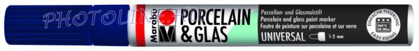 Porcelán & Üveg filctoll ÉJKÉK 1-2mm
