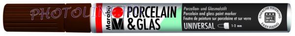 Porcelán & Üveg filctoll KAKAÓ 1-2mm