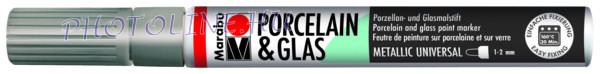 Porcelán & Üveg filctoll EZÜST 1-2mm