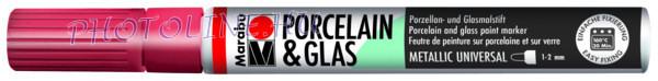 Porcelán & Üveg filctoll METÁL PIROS 1-2mm