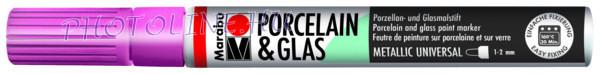Porcelán & Üveg filctoll METÁL RÓZSA 1-2mm