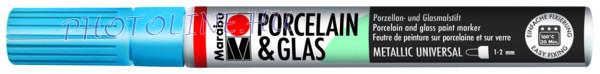 Porcelán & Üveg filctoll METÁL KÉK 1-2mm