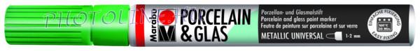 Porcelán & Üveg filctoll METÁL ZÖLD 1-2mm