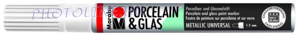 Porcelán & Üveg filctoll METÁL FEHÉR 1-2mm