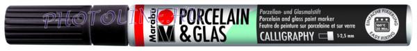 Porcelán & Üveg filctoll FEKETE 1-2,5mm vágott