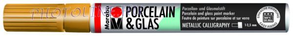 Porcelán & Üveg filctoll ARANY 1-2,5mm vágott