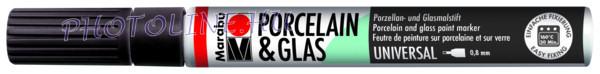 Porcelán & Üveg filctoll FEKETE 0,8mm