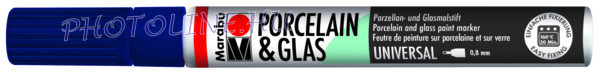 Porcelán & Üveg filctoll ÉJKÉK 0,8mm