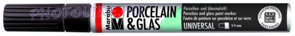 Porcelán & Üveg filctoll FEKETE 2-4mm