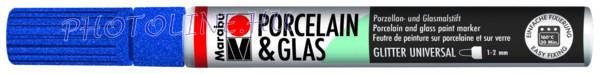 Porcelán & Üveg filctoll GLITTER ZAFÍR 1-2mm