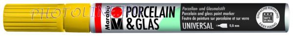 Porcelán & Üveg filctoll NAPSÁRGA 0,8mm