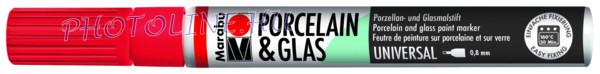 Porcelán & Üveg filctoll CSERESZNYE 0,8mm