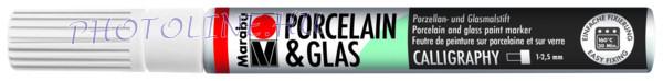 Porcelán & Üveg filctoll FEHÉR 1-2,5mm vágott