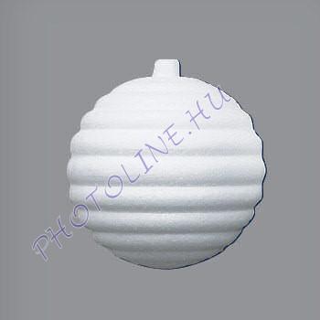 Hungarocell függődísz, horizontális csíkos gömb, 8,5 cm