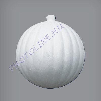 Hungarocell függődísz, vertikális csíkos gömb, 8,5 cm