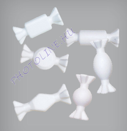Hungarocell Szaloncukor (6 féle) 3 x 9 cm polisztirol