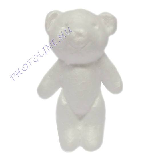 Hungarocell álló medve, 12x7 cm