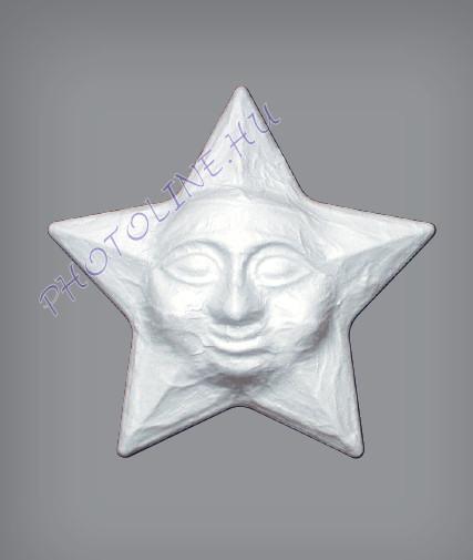 Hungarocell Csillag 5 ágú, arccal, XL, 32 cm polisztirol