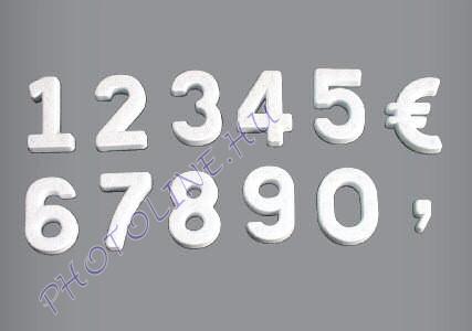 Hungarocell Latin szám 7,5 cm polisztirol