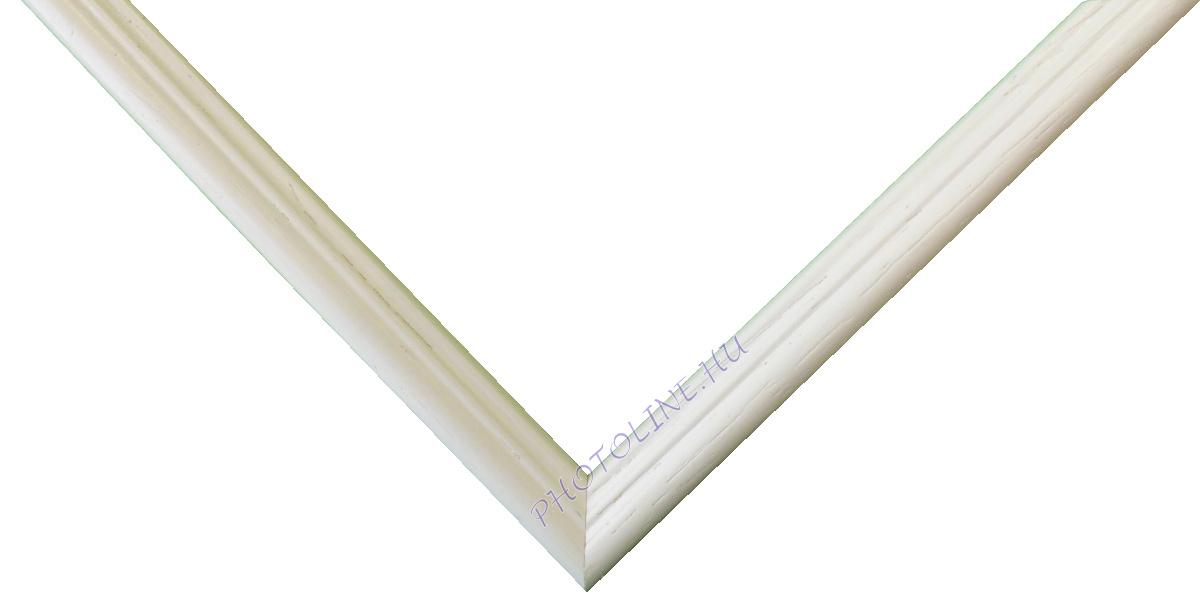 Egyedi keretezés 13 mm profil, fehér